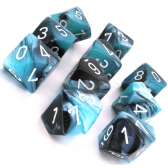 Black & Shell Gemini D10 Ten Sided Dice Set